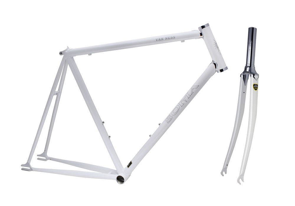 the van ness is our road sport frame that can be built up fixed single speed or with internally geared hubs if you are interested in doing a century on a