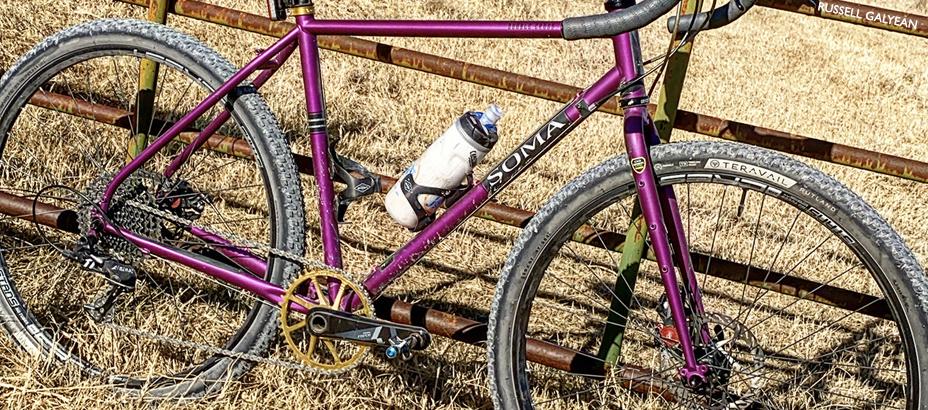 matte purple Double Cross best gravel rig